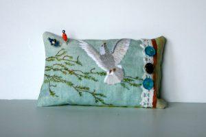 Dove Pincushion Hand Embroidery