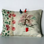 Asian Pincushion Hand Embroidery