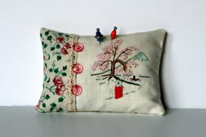 Asian Pincushion Hand Embroidery