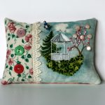 Gazebo Pincushion Hand Embroidery