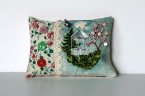 Gazebo Pincushion Hand Embroidery