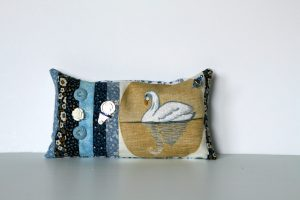 Swan Pincushion Hand Embroidered